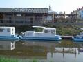 Baťův kanál Přístav před zdymadlem Loď Zlín DSCF1477 (1)