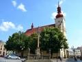 Holesov kostel + sloup